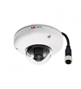 ACTI-E920M 5MP OUTDOOR MINI DOME M12 CONNECTOR POE F1.9MM/F2.8 1080P/30FPS