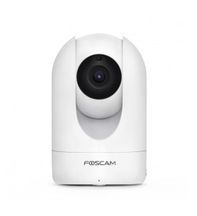 FOSCAM R4M 4 MEGAPIXELS 1080P PAN/TILT WIRED/ DUAL -BAND WIFI IP CAMERA WHITE