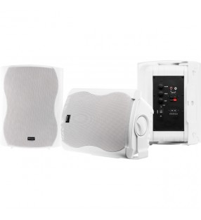 CLASS6AW WHITE PAIR 2-WAY 60W CLASS D AMP IN & OUTDOOR ACTIVE SPEAKERS WITH STANDBY